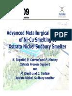 Xstrata NiCu Smelter Metallurgical Modelling