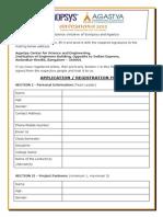 Anveshana 2012 Registration Form