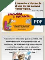 El rol del docente a distancia frente al uso de las nuevas tecnologías