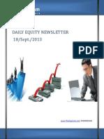 Equity Newsletter For Today 18-September
