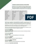 Cambio en El Nombre de Varias Funciones en Excel 2010
