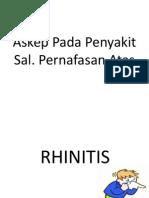 Askep Rhinitis Dan Sinusitis