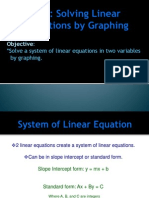 3 6 solving linear equations by graphing