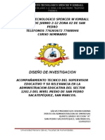 DISEÑO DE INVESTIGACION II SEMINARIO 6PA 2013