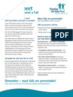 Fall Prevention FactSheet