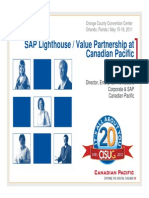 2410 SAP Lighthouse Value Engineering Partnership at Canadian Pacific