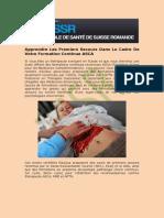 Cours Premiers Secours En Genève | ESSR