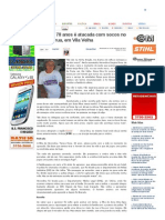 SiteBarra » Idosa de 78 anos é atacada com socos no meio da rua, em Vila Velha