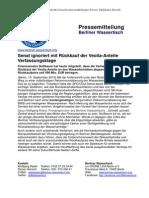 Pressemitteilung vom Berliner Wassertisch vom 10. September 2013