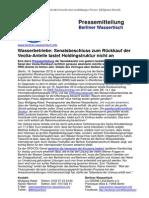 Pressemitteilung vom Berliner Wassertisch vom 18. September 2013