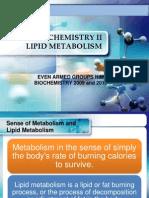 Ppt of Lipid Biocmeistry Final