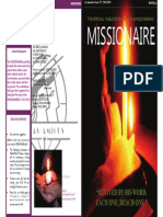 Missionaire (Revived by His Word; Each One, Reach One -1st Semester Issue SY:2012)