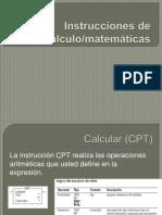 Instrucciones de cálculo