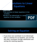 3 2 solutions to linear equations in two variables