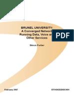 Brunel Converged Network Case Study(Farok)
