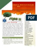 Panduan Dan Formulir Pendaftaran Seminar SNBB 2013