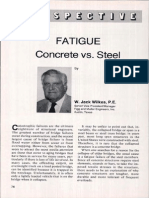 Fatigue steel vs. concrete