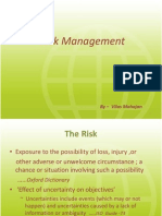 Risk Management in Projects by Prof. Mahajanrisk management,NICMAR,PUNE