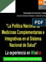 Marco Juridico de la SECRETARIA DE SALUD EN MÉXICO sobre Medicina Alternativa
