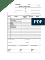 Earthworks Checklist