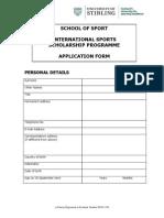 ISSP Application Form