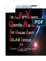 the most 50fifty common questions ask by the non muslims unveiled by peacetv a call towards islam