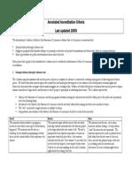 Annotated Accreditation Criteria