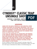 Browning Cynergy Unsingle Supplement