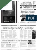 Versión impresa del periódico El mexiquense  18 septiembre 2013