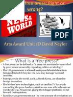 arts award presentation