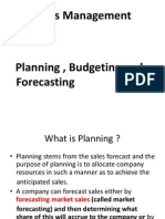 Sales Planning , Budgeting Forecasting