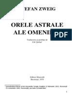 Zweig Stefan Orele Astrale Ale Omenirii