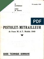 m.a.t. Pistolet-mitrailleur de 9 Mm Modele 1949