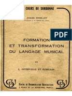 2324899 Langage Musical P 1 Jacques Chailley