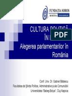 Cultura Politica - Alegerea Parlamentarilor
