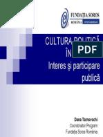 Cultura Politica - Interes Si Participare Publica