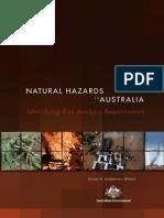 NATURAL HAZARDS in AUSTRALIA. Identifying Risk Analysis Requirements