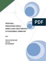 Contoh Proposal Klinik Fisioterapi Di Puskesmas Jombatan - Jombang