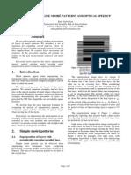 THE BASICS OF LINE MOIRÉ PATTERNS AND OPTICALSPEEDUP