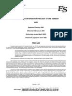AcceptanceCriteriaforPrecastStoneVeneer_ac51.pdf