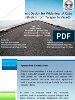 Flexible  Pavement Design for Widening