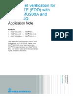 RF Chipset Verification for UMTS LTE