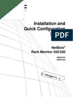 APC NetBotz Rack Monitor 450 Installation and Quick Configuration Manual.pdf