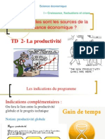 TD 2 La productivité (version non corrigée)
