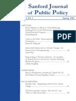 Sanford Journal of Public Policy - Volume 1 No. 1