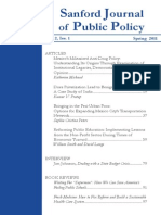 Sanford Journal of Public Policy - Volume 2 No. 1