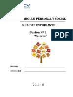 Desarrollo Personal Sesion 1 Valores-estudiante