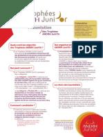 Présentation des Trophées ANDRH JuniOr 2014