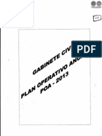 PLAN OPERATIVO ANUAL - POA - 2013 - GABINETE CIVIL - PARAGUAY - PORTALGUARANI