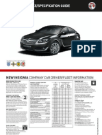 New Vauxhall Insignia Pricelist - Sep 2013